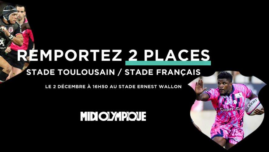 Remportez 2 places pour Stade Toulousain - Stade Français