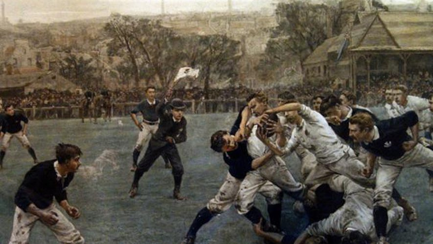 En 1871, l'Ecosse remporte le premier match international