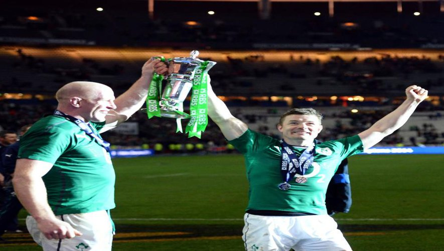"<p class=""txt-legende-2011""><B>L'Irlande vainqueurs des 6 Nations en 2014. Photo D.P.</B></p>"