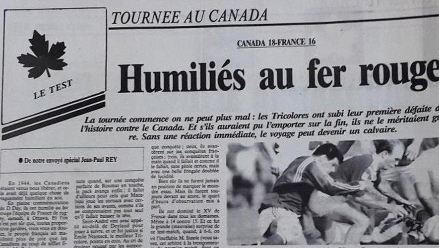 Canada - France 1994 :  victoire historique !