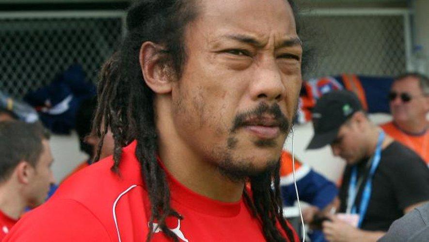 Tana Umaga, nouvel entraîneur des Auckland Blues.