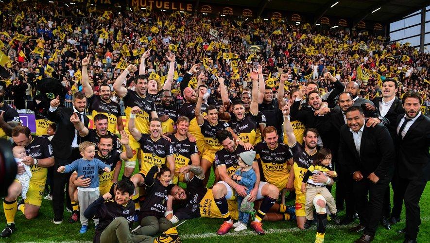 Les Maritimes, tout à leur joie, peuvent rêver de décrocher leur premier titre européen. Rendez-vous est pris le 10 mai prochain face à Clermont à Newcastle. Photo Icon Sport