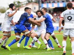 Yoann Huget (Toulouse) lors du derby contre Castres