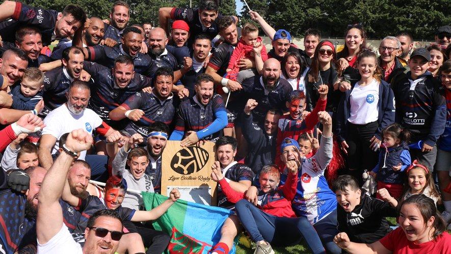 Heureux les Corneilhanais qui ramènent sur leurs terres le bouclier de champion de Quatrième Série de la Ligue Occitanie. Photo Rolland Sormani
