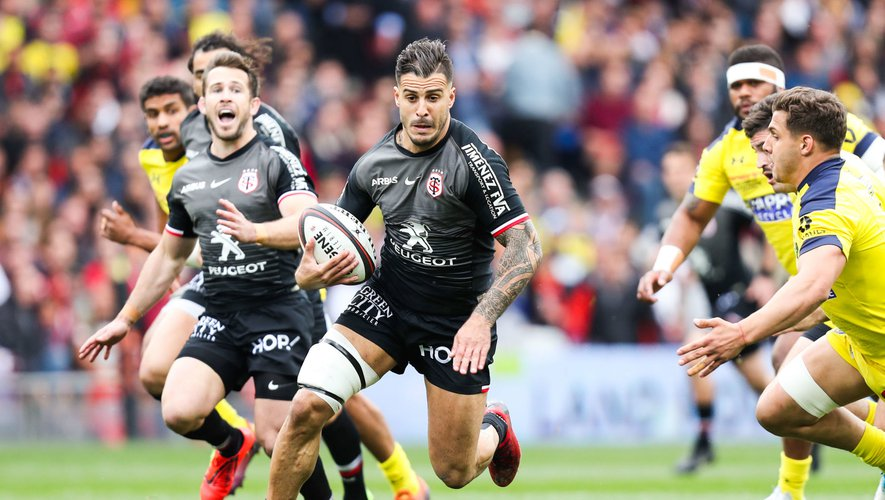 Top 14 - Sofiane Guitoune (Toulouse) contre Clermont