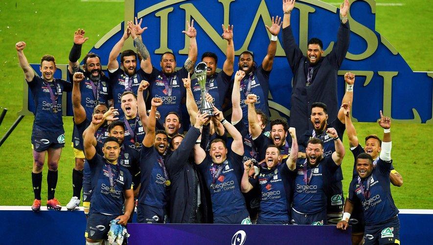Challenge Cup - La joie des Clermontois, vainqueur du trophée 2019 face à La Rochelle