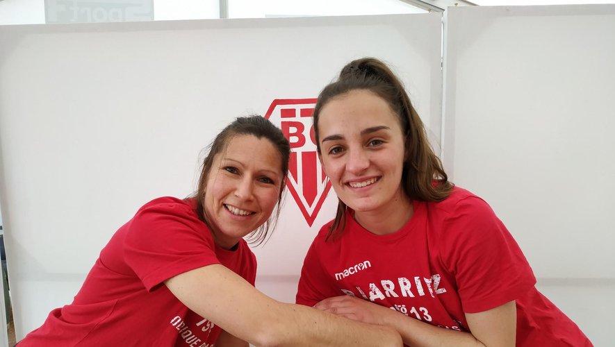 Les capitaines Emmanuelle Momal (à gauche) et Laetitia Erguy partagent les entraînements communs. Photo DR