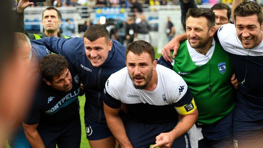 Louis Picamoles (Montpellier) après la victoire contre Clermont qui permet au club de jouer les barrages