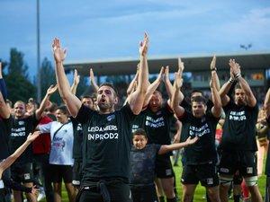 Les joueurs de Valence-Romans après la victoire contre Blagnac