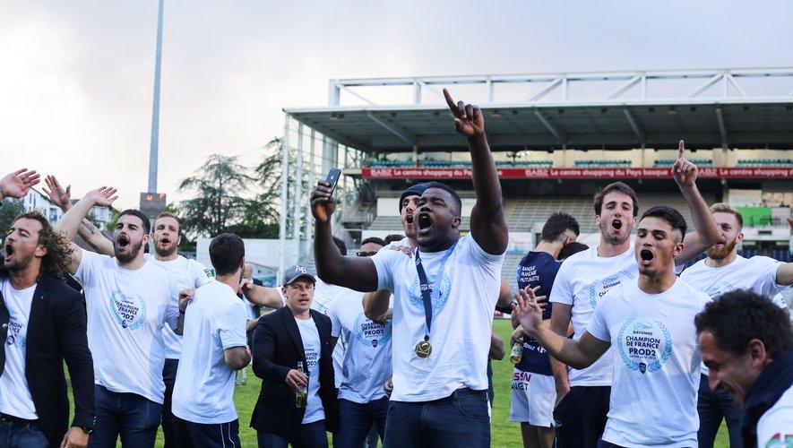 Pro D2 - L'Aviron bayonnais et ses supporters ont fêté le titre de champion et accèdent au Top 14