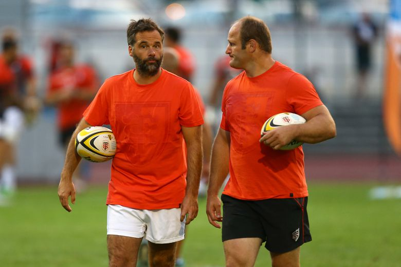 Ugo Mola et William Servat dans le staff du Stade toulousain en 2015