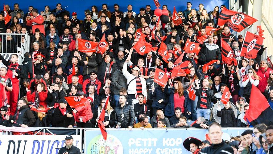 Les supporters du Stade toulousain fête la victoire face à Castres