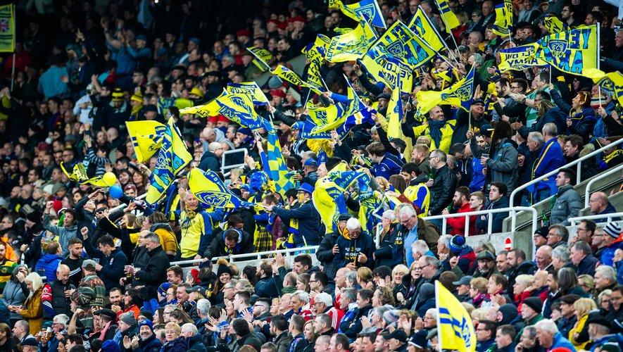 Les supporters de Clermont en finale de Challenge Cup