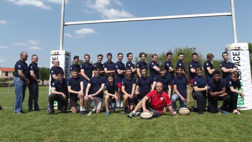 Les cadets de l'entente Saint-Juéry/Cagnac-Blaye ont atteint les demi-finales du championnat d'Occitanie Régional 2. Ils sont tombés contre l'entente gersoise du Bassin du Midour. Photo DR