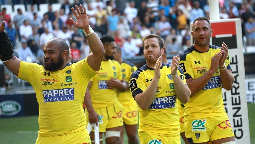 La joie des Clermontois après leur victoire contre Lyon en demi-finale de Top 14
