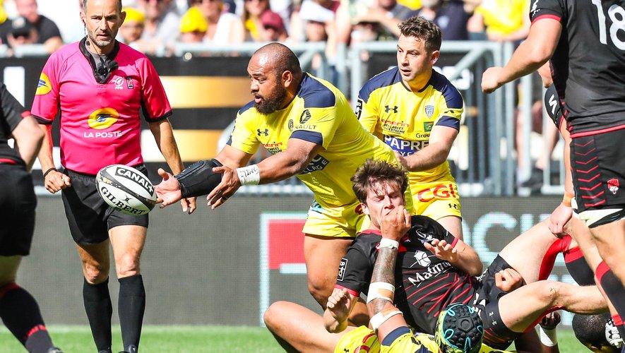 Loniketi Uhila (Clermont) contre Lyon en demi-finale de Top 14