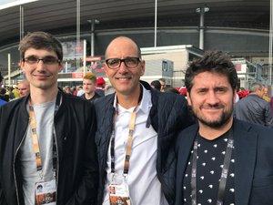 Pierre-Laurent Gou, Léo Faure et Jérémy Fadat, journalistes de Midi Olympique