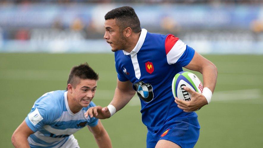 Matthis Lebel (France) contre l'Argentine pendant le Mondial U20