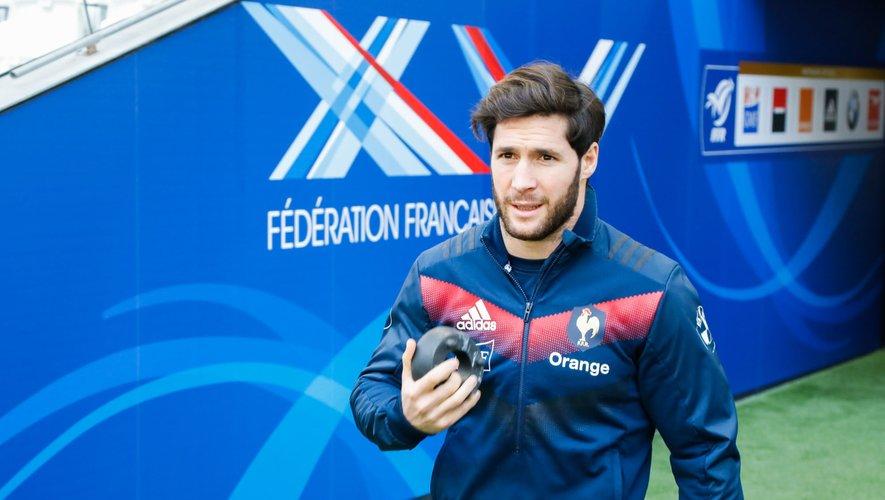 Machenaud sous les couleurs de l'équipe de France