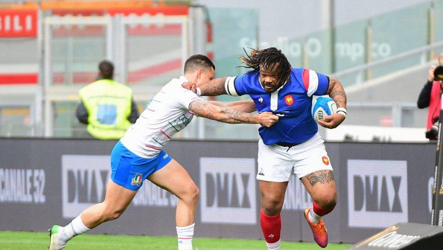 Mathieu Bastareaud face à l'Italie