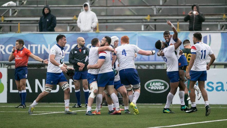 Les Bleuets remportant leur demi-finale contre l'Afrique du Sud lors du Mondial U20 en Argentine