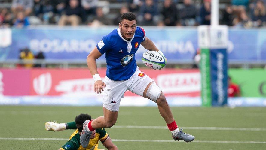 Matthias Lebel (France) lors de la finale contre l'Australie