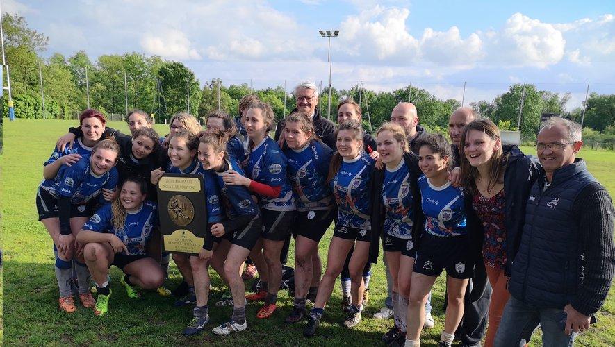 La réussite des filles du GAS, ici les cadettes championnes de Nouvelle-Aquitaine à 10, a compensé les difficultés des garçons. Photo Georges Bonhoure