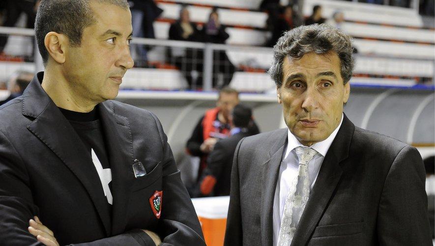 Mourad Boudjellal (président de Toulon) et Mohed Altrad (président de Montpellier)