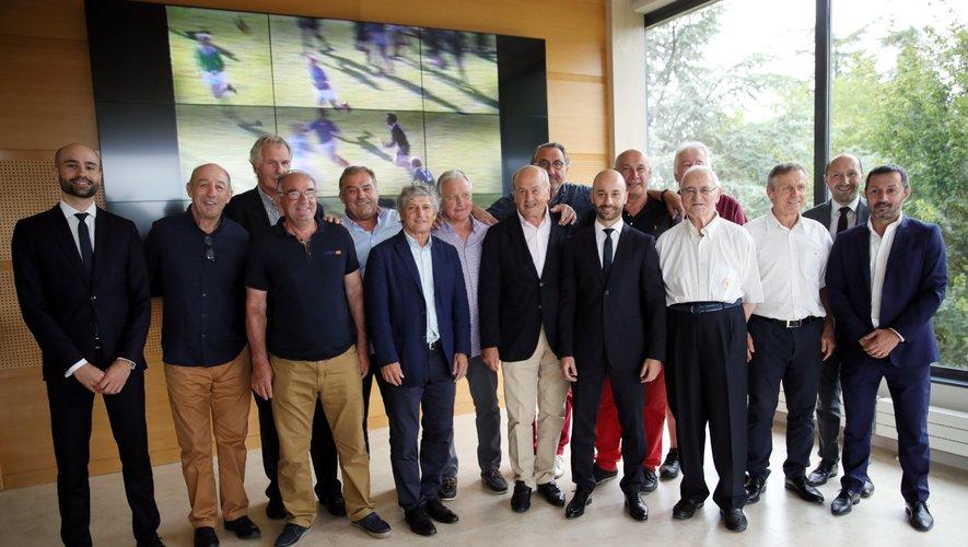L'équipe de 1979 réunie au siège de Midi Olympique