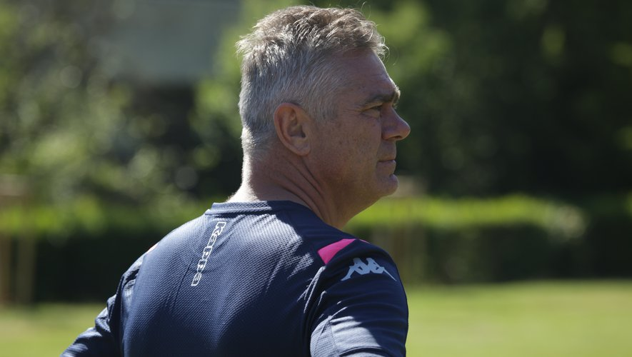 Heyneke Meyer (Manager du Stade français). Photo Stade.fr