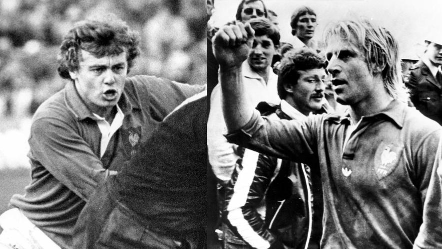 Jérôme Gallion (à gauche) et Jean-Pierre Rives (à droite) ont accompli l'un des plus grands exploits du rugby français. Ce 14 juillet 1979, au sein d'une équipe de France pleine de surprises, ils devenaient les premiers à faire tomber les All-Blacks sur leurs terres