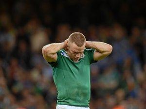 Ian Madigan (Irlande) lors de la défaite en quart de finale contre l'Argentine durant la Coupe du monde 2015