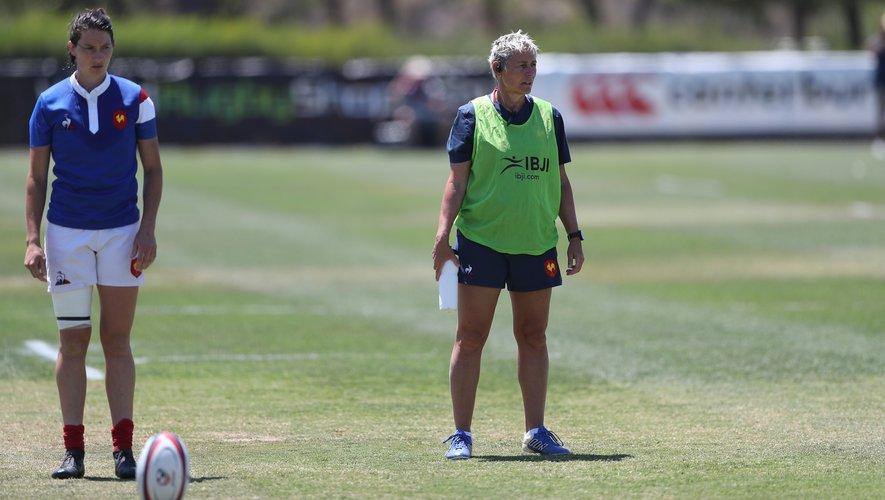 Annick Hayraud, heureuse et soulagée après la victoire des Bleues contre les USA