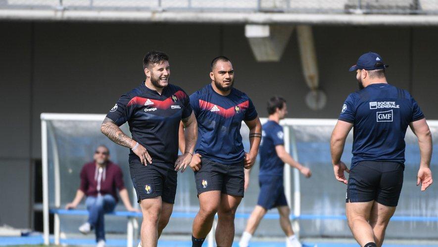XV de France - Cyril Baille à l'entraînement avec les Bleus en 2018