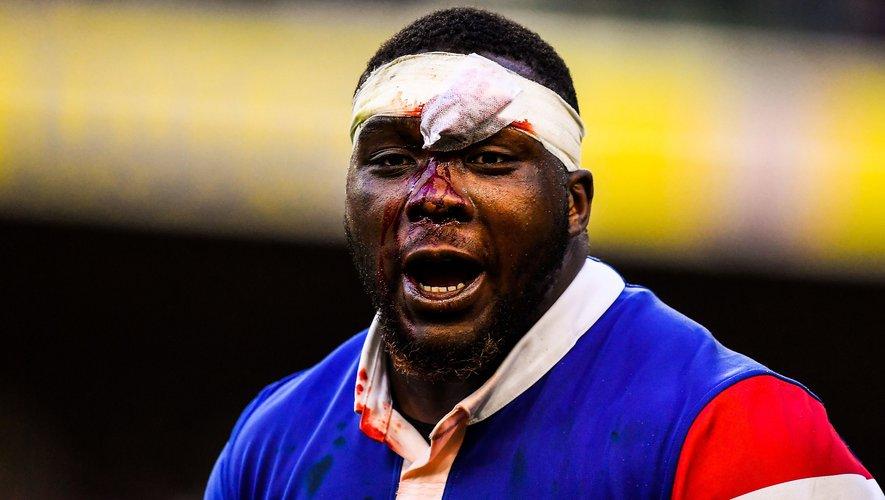 Le pilier français Demba Bamba a été opéré d'une hernie cervicale durant l'été et sélectionné avant que le changement de règles ait lieu. Il ne pourra pousser des mêlées qu'au milieu du mois d'août, alors que les nations de l'hémisphère Sud ont pu expérimenter ce  changement durant tout le Rugby Championship... Photo Icon Sport
