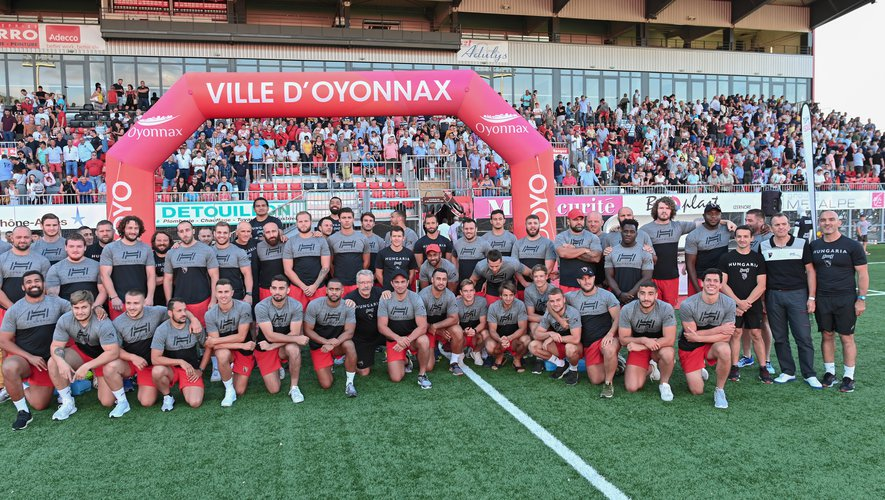Combat, état d'esprit et projet afin de pérenniser le club dans le haut niveau sera le triptyque de cette saison pour Oyonnax. Photo