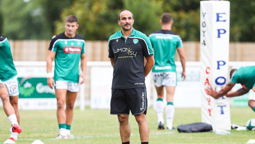 Frédéric Manca (Pau) avant le match amical contre Mont-de-Marsan
