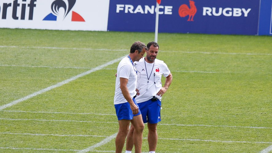 Fabien Galthié et Laurent Labit (France)