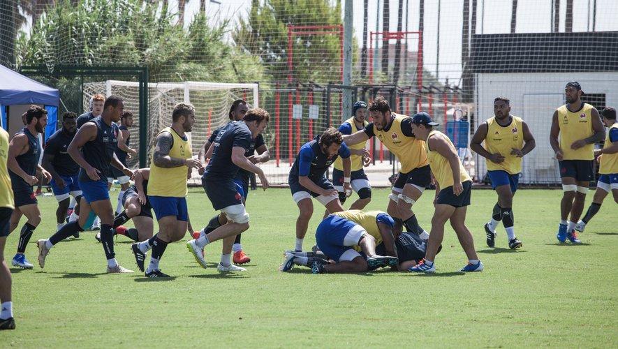 Les Bleus en stage de préparation pour la Coupe du monde à Valence en Espagne
