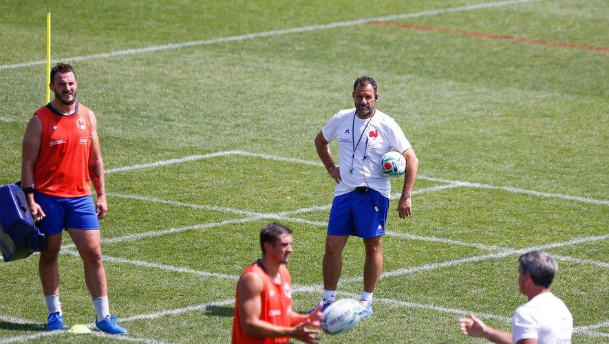 Laurent Labit (France) à l'entraînement des Bleus