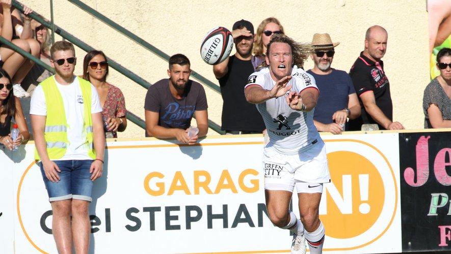 Déjà très en jambes, Werner Kok a régalé le public gaillacois avec ses courses tranchantes et ses appuis déroutants. Photo Stéphanie Biscaye