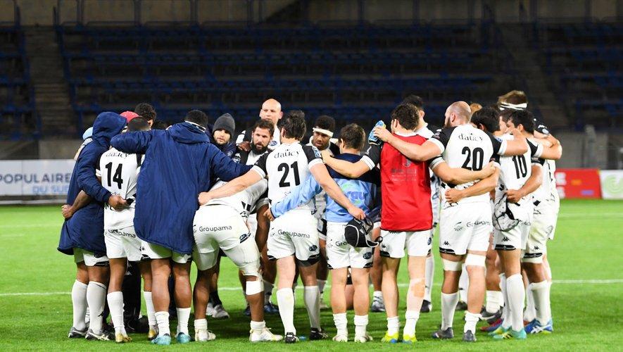 L'équipe de Vannes lors de la rencontre face à Béziers