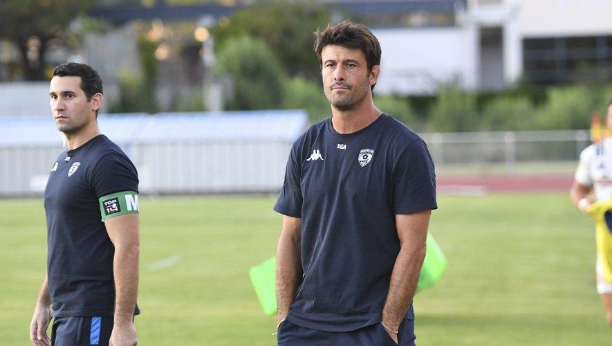 Xavier Garbajosa lors d'un match amical de Montpellier