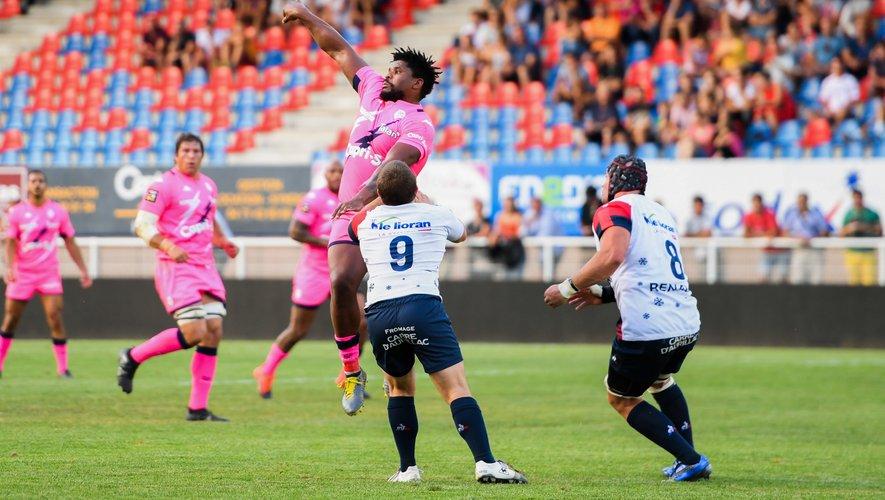Jonathan Danty (Stade Francais) contre Vannes