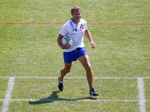 Fabien Galthié lors d'un entraînement du XV de France à Marcoussis