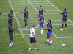 Les Bleus lors d'un entraînement à Marcoussis