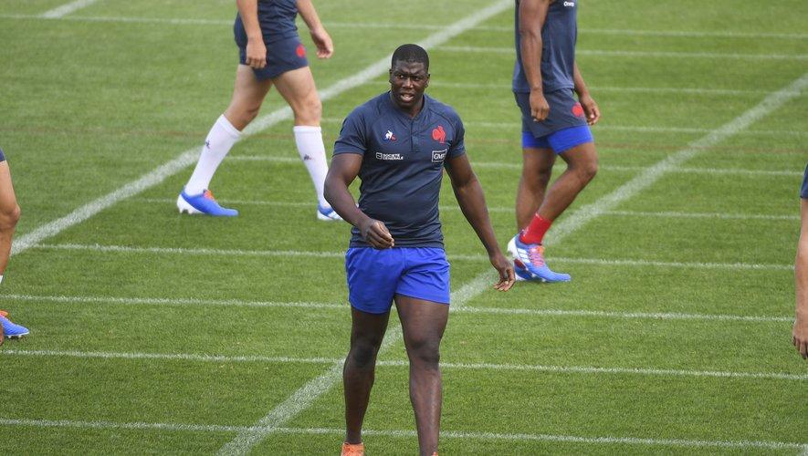 Yacouba Camara (France) lors d'un entraînement des Bleus à Marcoussis