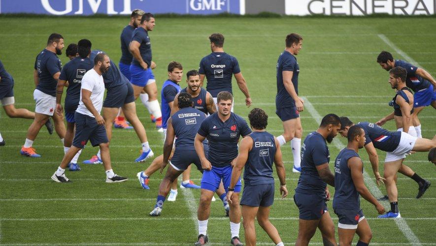 Les Bleus lors de l'entraînement à Marcoussis