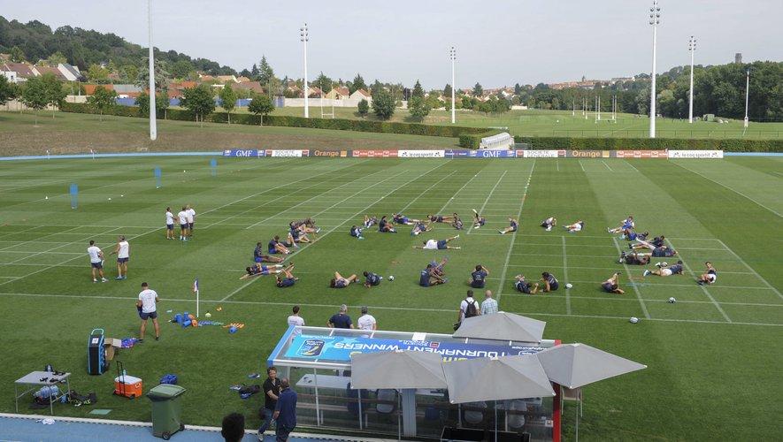 XV de France - Les joueurs durant un entraînement à Marcoussis