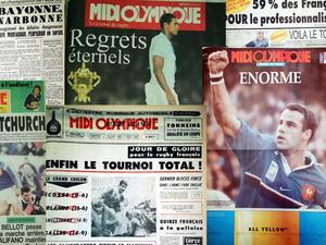 90 ans du Midi Olympique, quelques Unes du journal...